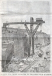 """A fifty ton crane operating in the Lerouville Quarries."" (France), Scientific American Supplement, August 12, 1893, pp. 14681"