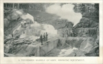 """A Tennessee marble quarry, showing equipment."" (Tennessee, USA) Stone Magazine, Vol. XXVII, No. 2, December 1903"