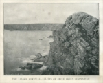 """The Lizard, Cornwall: Cliffs of olive green serpentine."" (England) Stone Magazine, Vol. XXVII, No. 2, December 1903"