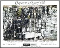 Chapters on a Quarry Wall Exhibit by Les Bartlett