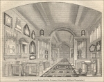 """Show-room of the London Marble-working company, Esher Street, Millbank, Westminster."" from ""A Day at the London Marble-Works,"" ""The Penny Magazine-Supplement,"" Aug. 1841, pp. 337)"