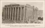 Ancient Roman temple at Baalbeck Syria (1923)
