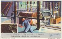 Marble Work - 4. Sawing, Italian trade card
