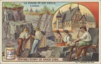 The Stone and Its Use - Slate, French trade card (front)