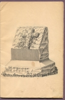 "#CC1252 cemetery monument in ""New Style Rock Work"" catalog, Charles Clements, Wholesale Granite Dealer, Boston Mass., 1890s"