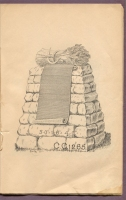 "#CC1265 cemetery monument in ""New Style Rock Work"" catalog, Charles Clements, Wholesale Granite Dealer, Boston Mass., 1890s"