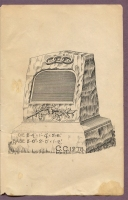 "#CC1278 cemetery monument in ""New Style Rock Work"" cemetery monumental catalog, Charles Clements, Wholesale Granite Dealer, Boston Mass., 1890s"