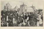 """View in Monumental Cemetery, Milan"" Italy, in ""The Monumental News,"" Nov. 1895"