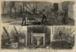 """South Carolina Phosphate Works - Mining Room, Phosphate Mill, Screen, and Crushing of Phosphate"" (1880)"