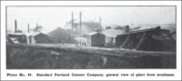 Standard Portland Cement Company, general view of plant from southeast.