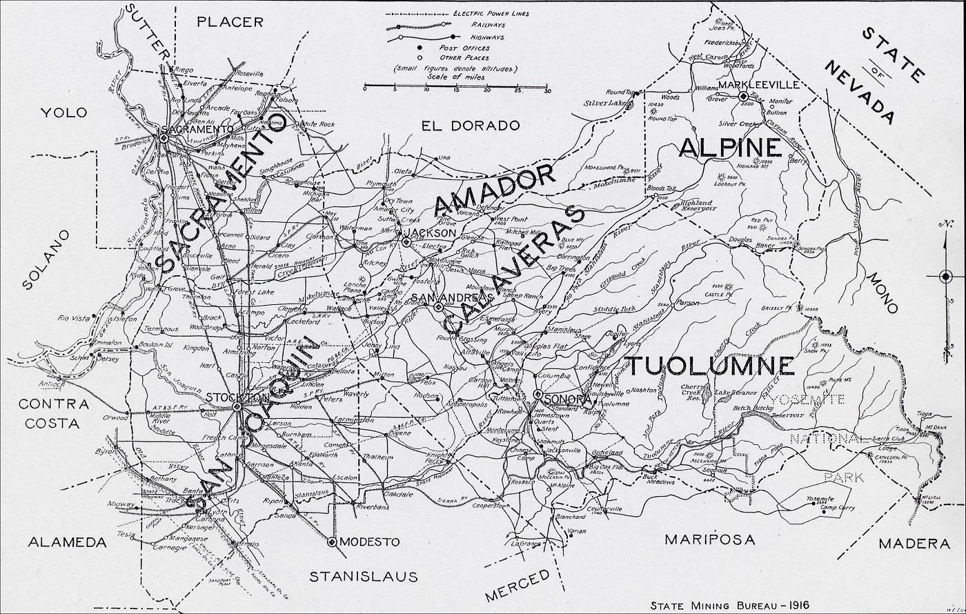 San Joaquin County Map 1916