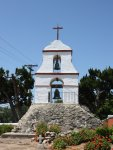 Bell Tower at the Pala Mission with stone base, San Diego Co., CA