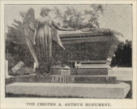 The Chester A. Arthur memorial in the Albany Rural Cemetery, Albany, New York (1896, The Monumental News)