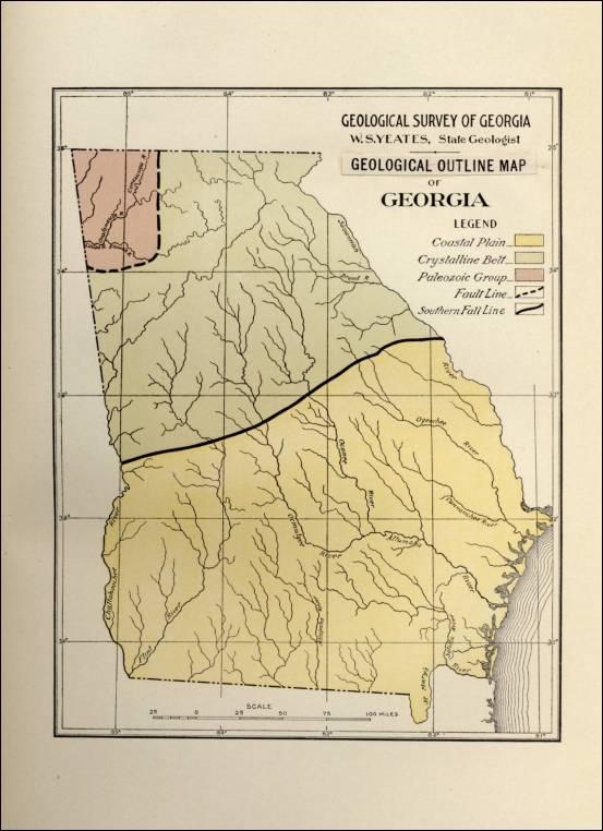 Geologic map of Georgia (U.S. state) - Wikipedia