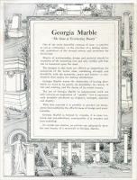 "Title page from ""Memorials in Georgia Marble – Eclipse Designs"" Georgia Marble Company, Tate, Georgia – circa 1920"