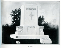 "The John C. Foley (1874-1917) cemetery monument – one of the many monuments in ""Memorials in Georgia Marble – Eclipse Designs"" Georgia Marble Company, Tate, Georgia – circa 1920"