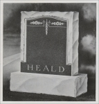 The Heald cemetery memorial design in A Plant and Its Product, published by the Drew Daniels Granite Co., Waterbury, Vt. ( circa 1910)