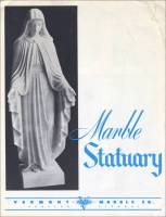 "Front cover of ""Marble Statuary"" Vermont Marble co. brochure"