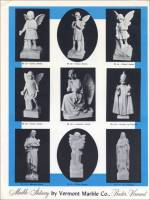 "Samples of religious statuary in ""Marble Statuary"" Vermont Marble co. brochure"