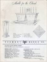 """Marble for the Church"" & the Vermont Marble Company office and plant locations (pg. of brochure)"