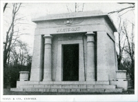 """Gall & Company, Contractors."" (""The J. K. Stewart mausoleum recently completed in Graceland Cemetery, Chicago…."" (ca. 1921) (From ""Some Examples of Recent Mausoleum Work,"" The Monumental News, January 1921, pp. 44)"