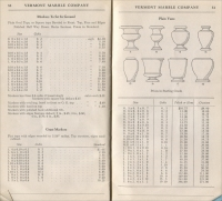Pages 32 & 33 of the Vermont Marble Co. Price List of Monumental Marble, Effective Sept. 1, 1946 (Price List for Design Book #21)