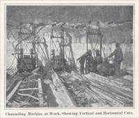 """Channeling Machine at Work, Showing Vertical and Horizonal Cuts."" (circa 1904)"