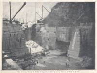 """View of Quarry, Showing the Method of Supporting the Sides by Leaving Buttresses of Marble in the Cut."" (circa 1904)"